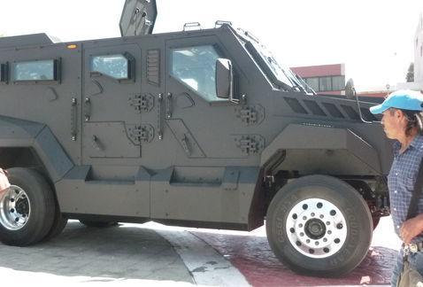 Tanque blindado para vigilancia de Ecatepec