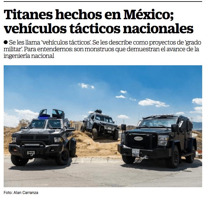 El Universal Titanes hechos en México WBA Blindajes Alemanes
