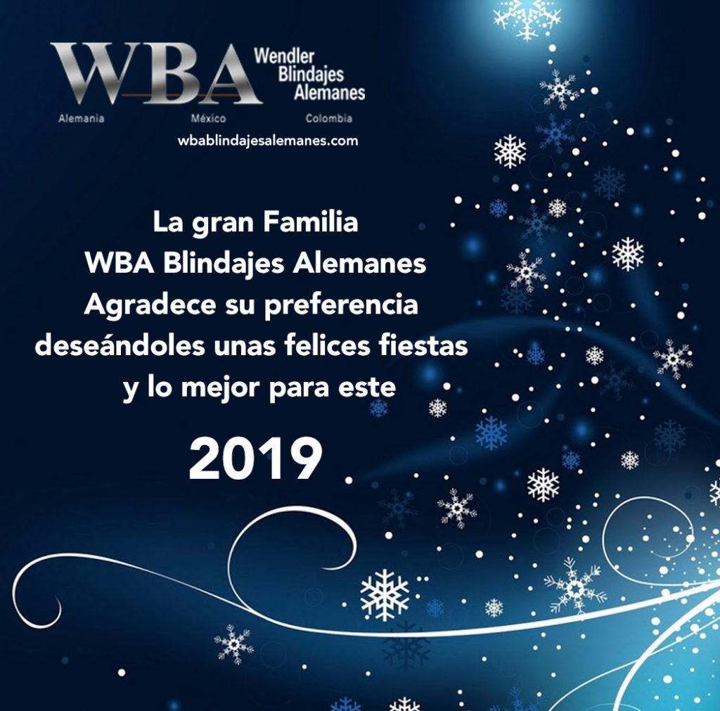 WBA Blindajes Alemanes les desea una muy feliz Navidad y un gran 2019