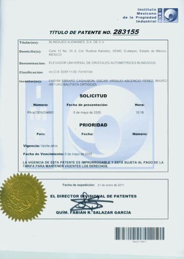 procesos y certificados WBA Blindaje Automotriz